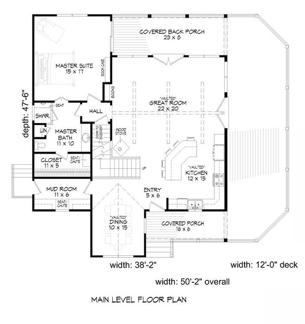 Country Floor Plan - Main Floor Plan Plan #932-9
