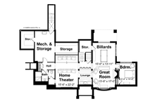 Craftsman Floor Plan - Lower Floor Plan Plan #928-19