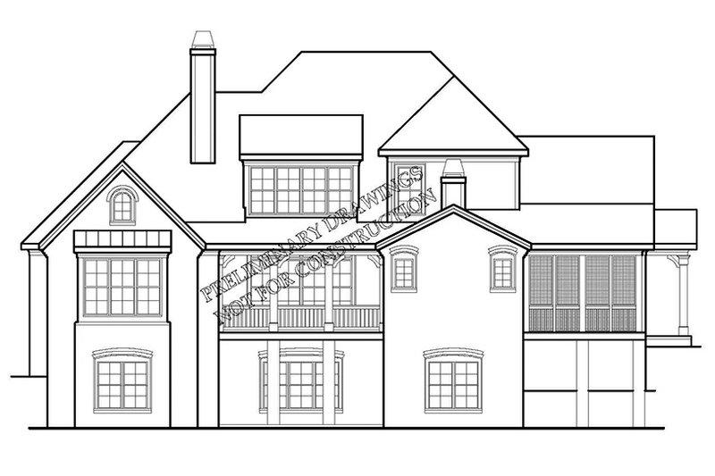 European Exterior - Rear Elevation Plan #927-426 - Houseplans.com
