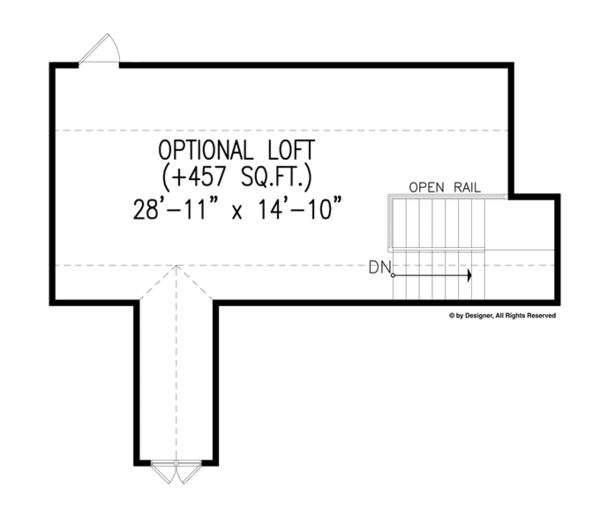 House Plan Design - Craftsman Floor Plan - Other Floor Plan #54-371