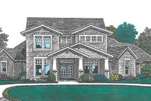 Traditional Exterior - Front Elevation Plan #310-1254