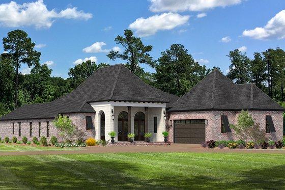 Cottage Exterior - Front Elevation Plan #406-9663