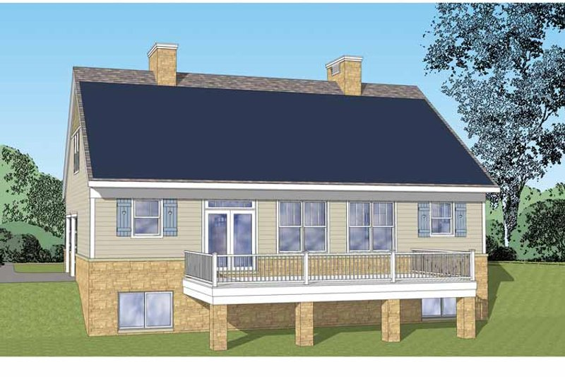 Craftsman Exterior - Rear Elevation Plan #1029-61 - Houseplans.com