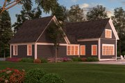 Colonial Style House Plan - 3 Beds 3 Baths 2981 Sq/Ft Plan #903-3 Exterior - Rear Elevation