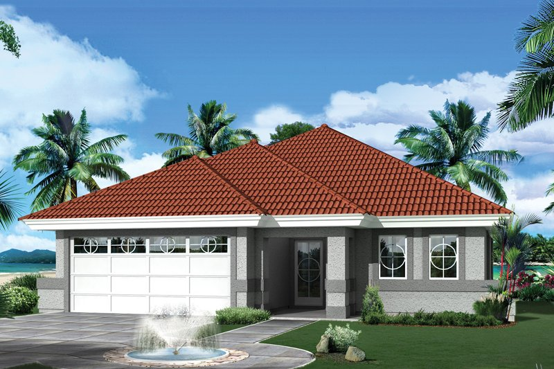Ranch Exterior - Front Elevation Plan #57-690