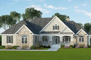 Dream House Plan - Country Exterior - Front Elevation Plan #929-955