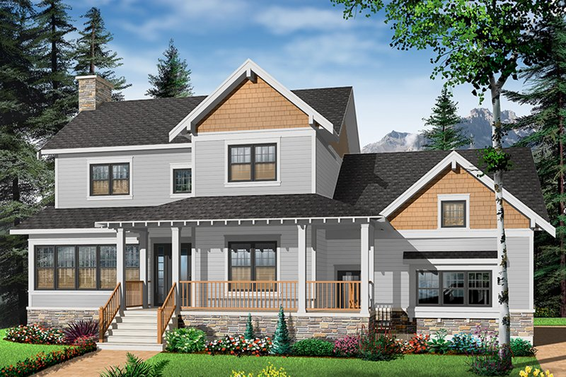 Farmhouse Style House Plan - 3 Beds 2.5 Baths 2185 Sq/Ft Plan #23-2651 Exterior - Front Elevation