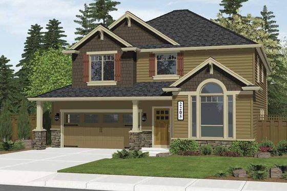 Craftsman Exterior - Front Elevation Plan #943-4
