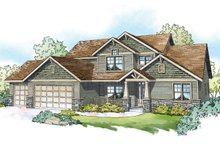 Dream House Plan - Craftsman Exterior - Front Elevation Plan #124-1212
