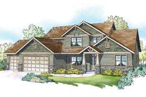 Craftsman Exterior - Front Elevation Plan #124-1212