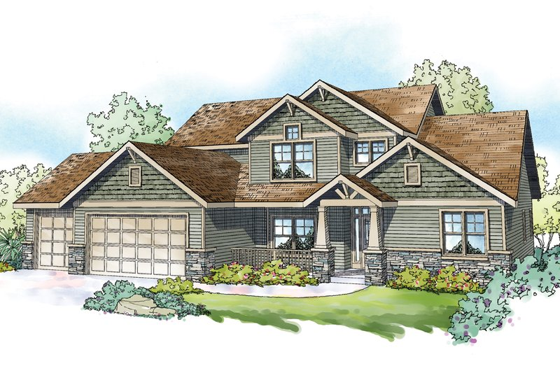 Home Plan - Craftsman Exterior - Front Elevation Plan #124-1212