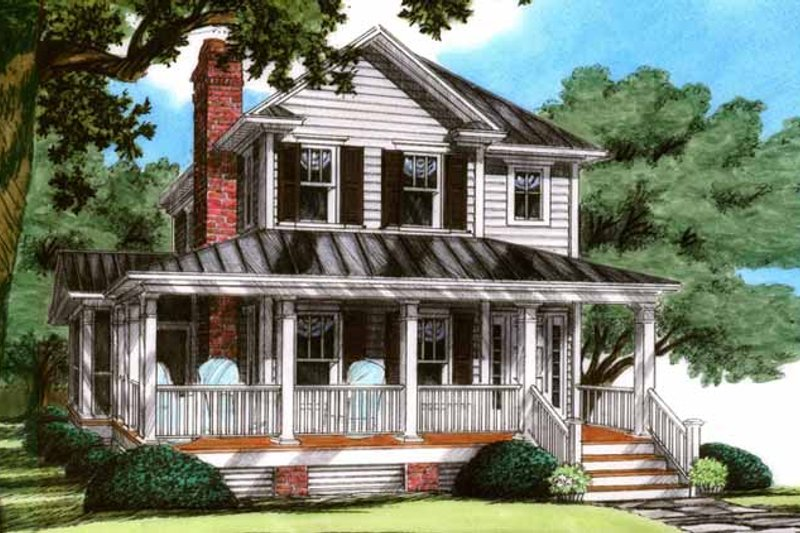 Country Exterior - Front Elevation Plan #991-22 - Houseplans.com
