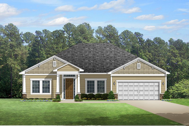 Colonial Exterior - Front Elevation Plan #1058-122 - Houseplans.com