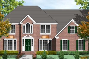 House Design - Colonial Exterior - Front Elevation Plan #1053-49