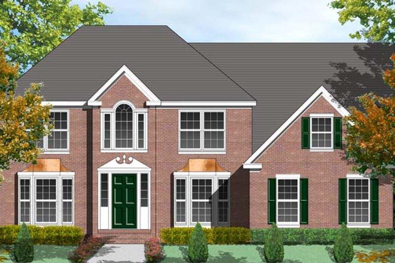 Colonial Exterior - Front Elevation Plan #1053-49 - Houseplans.com