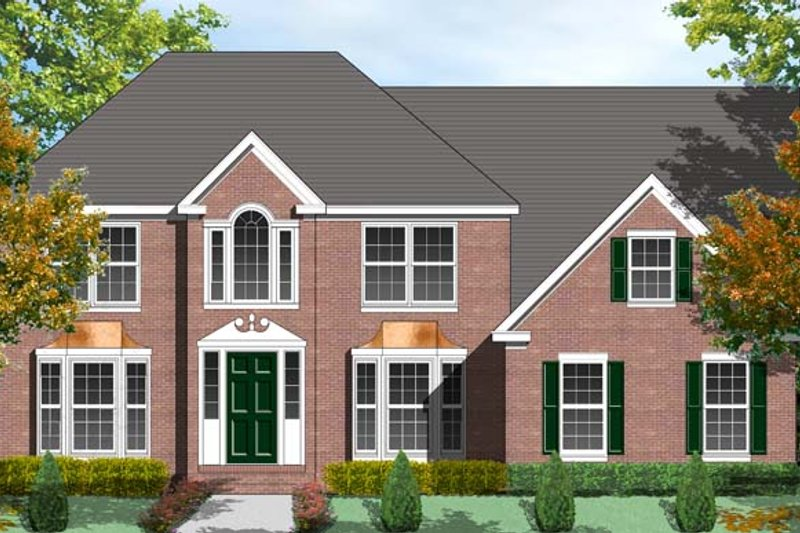 House Plan Design - Colonial Exterior - Front Elevation Plan #1053-49