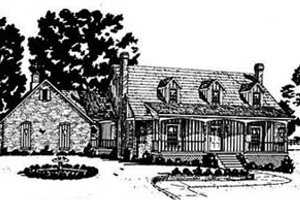 Country Exterior - Front Elevation Plan #36-197