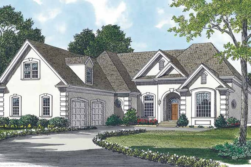 House Plan Design - Traditional Exterior - Front Elevation Plan #453-477