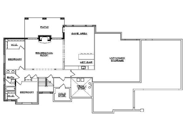 House Plan Design - European Floor Plan - Lower Floor Plan #5-366