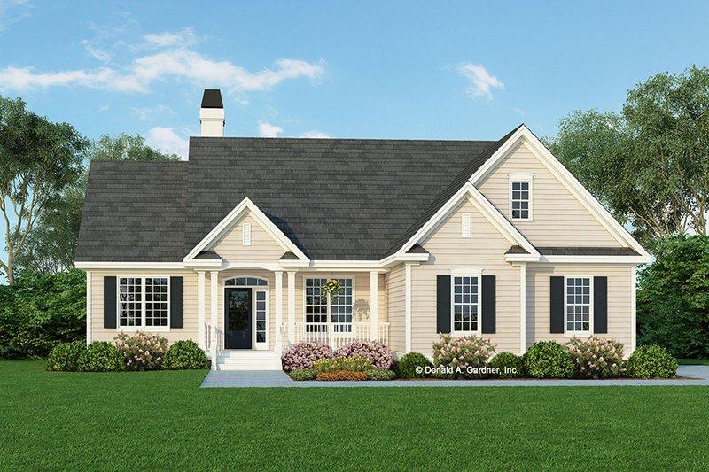 Ranch Exterior - Front Elevation Plan #929-478 - Houseplans.com