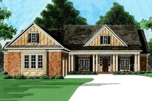 Country Exterior - Front Elevation Plan #1054-28