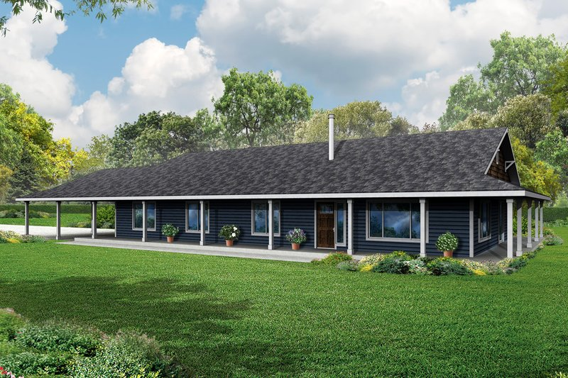 Dream House Plan - Ranch Exterior - Front Elevation Plan #124-965