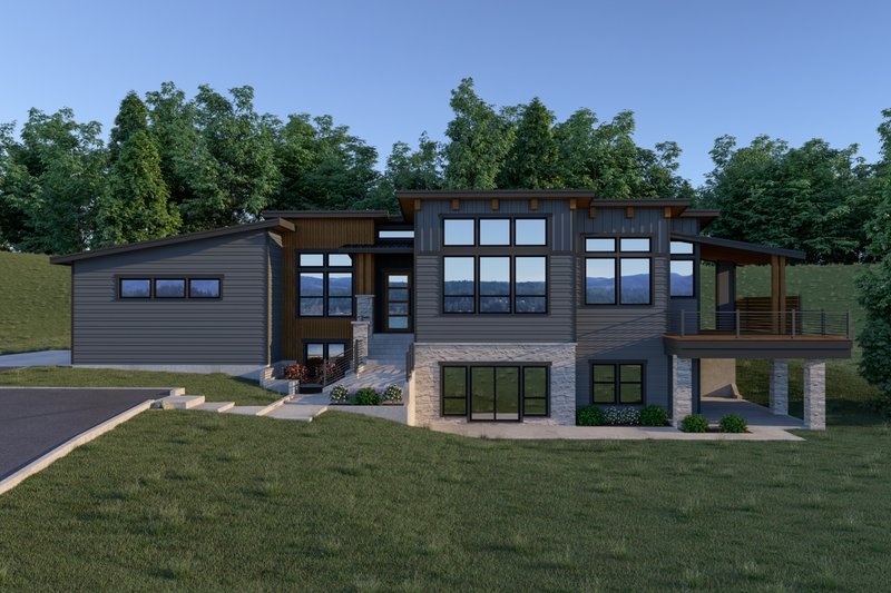 Contemporary Exterior - Front Elevation Plan #1070-71