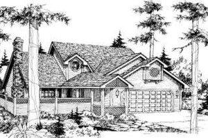 Bungalow Exterior - Front Elevation Plan #303-296