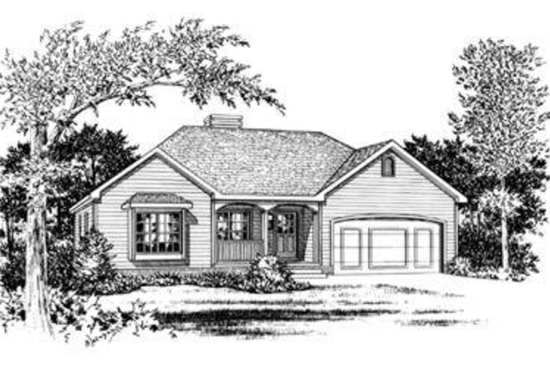 Traditional Exterior - Front Elevation Plan #20-419 - Houseplans.com