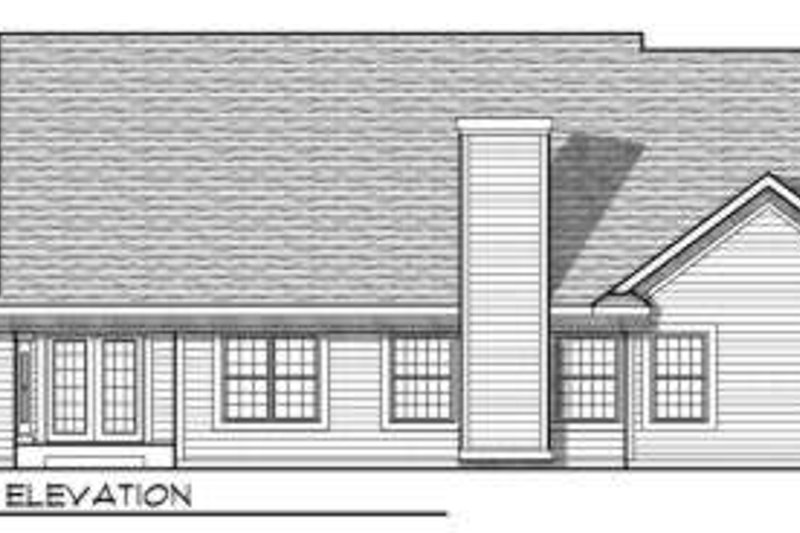Traditional Exterior - Rear Elevation Plan #70-703 - Houseplans.com