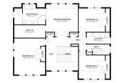 Craftsman Style House Plan - 5 Beds 3 Baths 3223 Sq/Ft Plan #1060-55 Floor Plan - Upper Floor