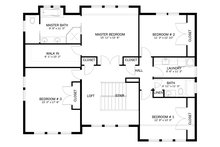 Craftsman Floor Plan - Upper Floor Plan Plan #1060-55