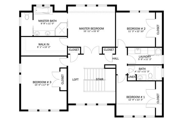 House Plan Design - Craftsman Floor Plan - Upper Floor Plan #1060-55
