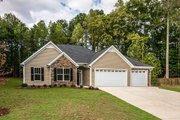 Country Style House Plan - 3 Beds 2.5 Baths 1635 Sq/Ft Plan #20-2192 Exterior - Front Elevation