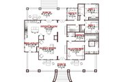 Craftsman Style House Plan - 3 Beds 2.5 Baths 2366 Sq/Ft Plan #63-343 Floor Plan - Main Floor Plan