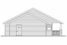 Architectural House Design - Craftsman Exterior - Rear Elevation Plan #124-617