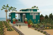 Contemporary Style House Plan - 1 Beds 2 Baths 584 Sq/Ft Plan #917-5 Exterior - Front Elevation