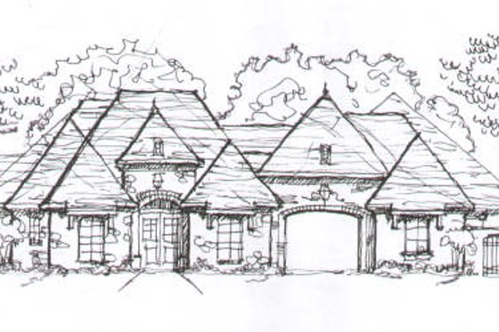 European Exterior - Front Elevation Plan #141-235