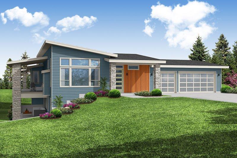 Dream House Plan - Modern Exterior - Front Elevation Plan #124-1249