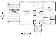 Mediterranean Style House Plan - 1 Beds 1 Baths 972 Sq/Ft Plan #48-284 Floor Plan - Main Floor Plan
