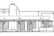 Adobe / Southwestern Style House Plan - 3 Beds 2.5 Baths 2350 Sq/Ft Plan #72-145 Exterior - Rear Elevation