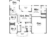 Ranch Style House Plan - 3 Beds 2 Baths 1691 Sq/Ft Plan #455-219 Floor Plan - Main Floor Plan
