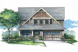 Craftsman Exterior - Front Elevation Plan #53-533