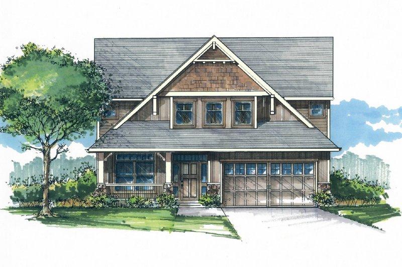 Craftsman Style House Plan - 3 Beds 2.5 Baths 2377 Sq/Ft Plan #53-533