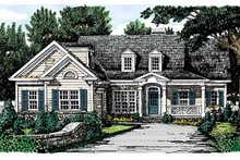 Dream House Plan - Country Exterior - Front Elevation Plan #927-721