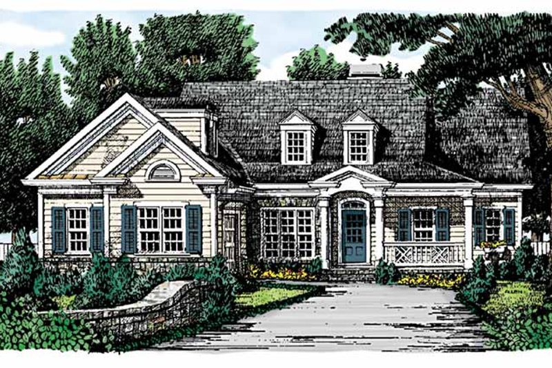 Country Exterior - Front Elevation Plan #927-721