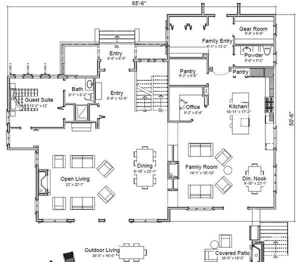 Traditional Floor Plan - Main Floor Plan Plan #451-29
