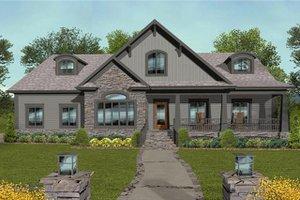 Architectural House Design - Craftsman Exterior - Front Elevation Plan #56-699