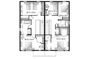 Contemporary Style House Plan - 5 Beds 2 Baths 3171 Sq/Ft Plan #23-2596 Floor Plan - Upper Floor Plan