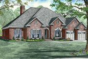 Country Style House Plan - 4 Beds 3 Baths 2525 Sq/Ft Plan #17-2682 Exterior - Front Elevation